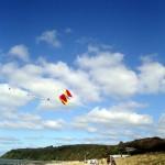 Drachenflug am Strand von Kloster / Hiddensee