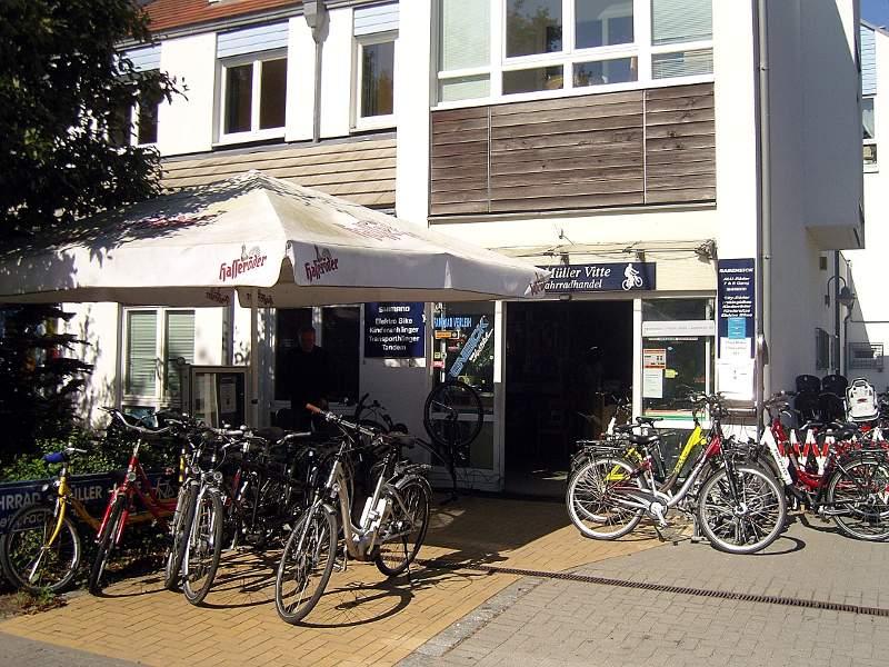 Fahrrad-Müller in Vitte auf Hiddensee