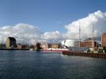 Ozeaneum und Gorch Fock in Stralsund