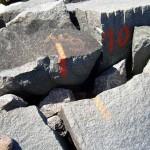 Huckemauer - Spalten zwischen den Decksteinen | © Reiseziel Hiddensee 2011