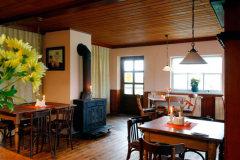 Gaststättenraum der Stranddistel in Neuendorf / Hiddensee