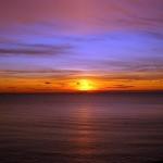 Sonnenuntergang am Strand von Hiddensee