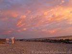 Strandkorb Abendhimmel Hiddensee