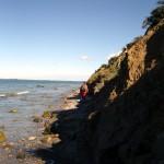 Umrundung der Steilküste Hiddensees. Kurz vor dem Ziel am Enddorn.