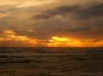 Sonnenuntergang Sturm über der Ostsee