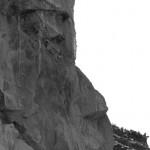 Senkrecht aufragende Sporne aus Geschiebemergel bzw. -lehm an der Hiddenseer Steilküste