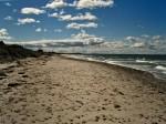 mit Steinen übersäter Strand bei Hiddensee