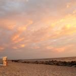 Strandkörbe und Abendstimmung bei Kloster  auf Hiddensee
