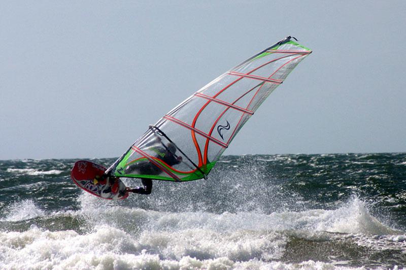Surfer vor Hiddensee