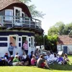 Asta Nielsen Tour stilecht vor dem Karousel | Ute Fritsch